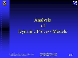 Analysis  of Dynamic Process Models