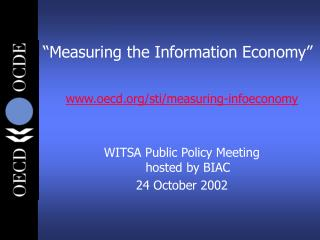 """Measuring the Information Economy"""
