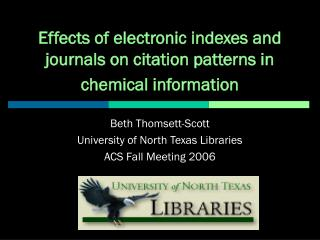 Effects of electronic indexes and journals on citation patterns in chemical information