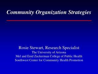 Community Organization Strategies