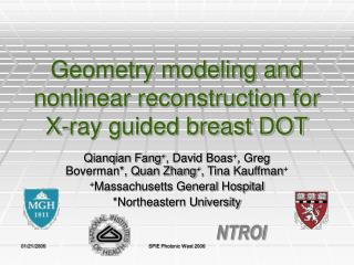 Geometry modeling and nonlinear reconstruction for X-ray guided breast DOT