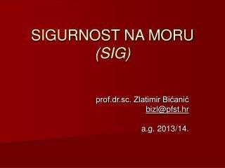 SIGURNOST NA MORU  (SIG)