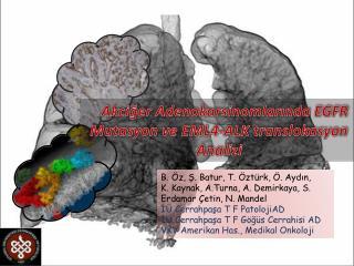 Akciğer  Adenokarsinomlarında  EGFR Mutasyon ve EML4-ALK  translokasyon  Analizi