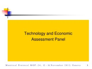 Technology and Economic  Assessment Panel