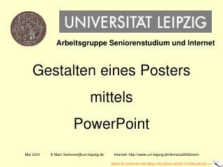 Gestalten eines Posters mittels PowerPoint