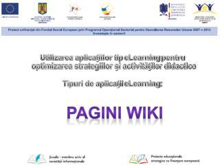 Pagini  wiki