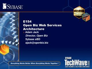 E154 Open Biz Web Services Architecture