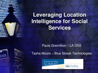 Leveraging Location Intelligence for Social Services