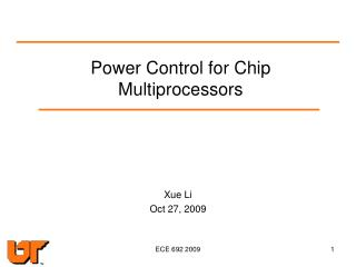 Power Control for Chip Multiprocessors