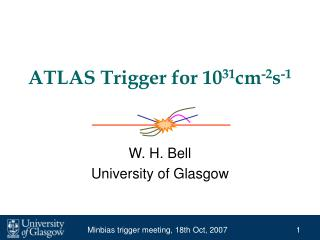 ATLAS Trigger for 10 31 cm -2 s -1