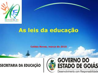 As leis da educa  o