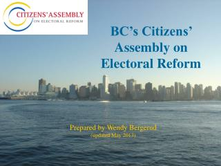 BC's Citizens' Assembly on  Electoral Reform