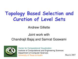 Topology Based Selection and Curation of Level Sets
