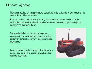 El tractor agr cola