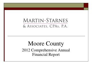 Moore County 2012 Comprehensive Annual Financial Report
