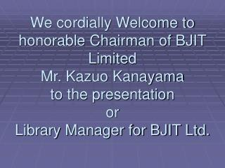 Library Manager for BJIT Ltd