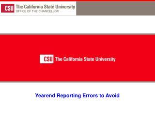 Yearend Reporting Errors to Avoid