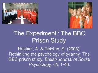 'The Experiment': The BBC Prison Study