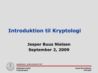 Introduktion til Kryptologi