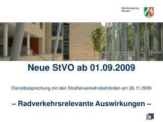 Neue StVO ab 01.09.2009