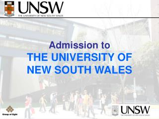 Admission to THE UNIVERSITY OF NEW SOUTH WALES