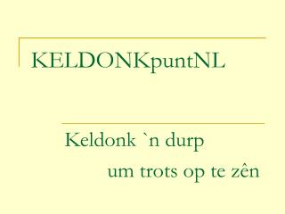 KELD O NKpuntNL