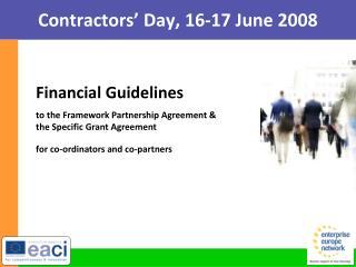 Contractors' Day, 16-17 June 2008