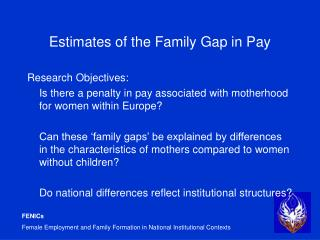 Estimates of the Family Gap in Pay