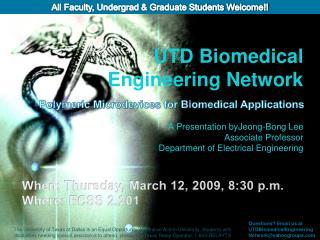 UTD Biomedical Engineering Network