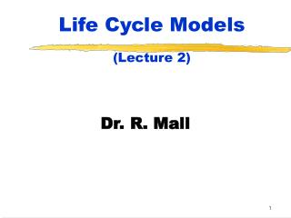 Life Cycle Models Lecture 2