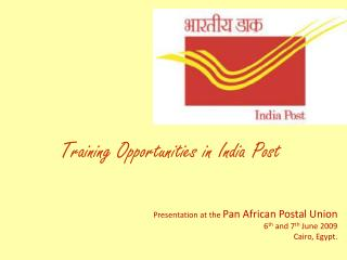 Training Opportunities in India Post