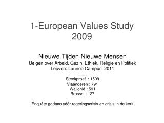1-European Values Study 2009