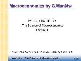 Macroeconomics by G.Mankiw