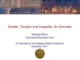 Gender, Taxation and Inequality: An Overview