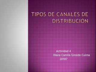 Tipos  D e Canales De Distribución