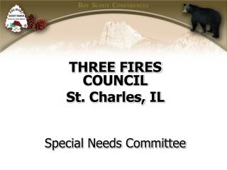 THREE FIRES COUNCIL  St. Charles, IL Special Needs Committee