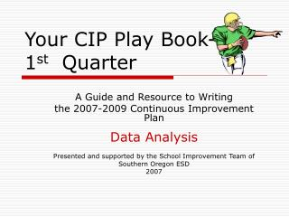 Your CIP Play Book- 1st  Quarter