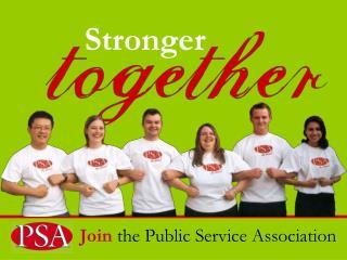Join  the Public Service Association