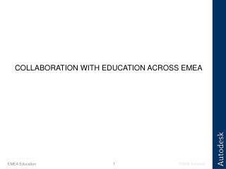 COLLABORATION WITH EDUCATION ACROSS EMEA