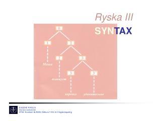Ryska III SYN TAX
