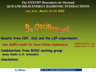 Les Arcs, March 16-23 2002