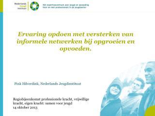 Ervaring opdoen met versterken van informele netwerken bij opgroeien en opvoeden.
