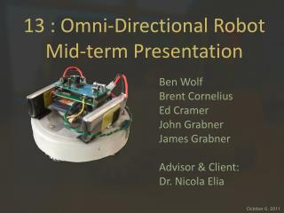 13 : Omni-Directional Robot Mid-term Presentation