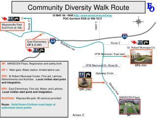 Community Diversity Walk Route