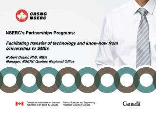 NSERC�s Partnerships Programs: