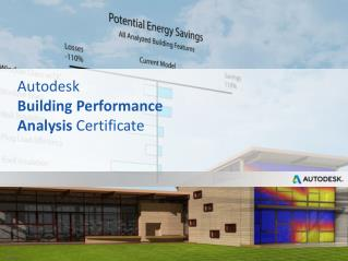 Autodesk Building Performance Analysis  Certificate
