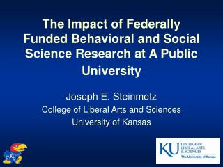 The Impact of Federally Funded Behavioral and Social Science Research at A Public University