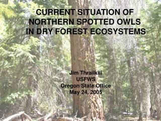 CURRENT SITUATION OF  NORTHERN SPOTTED OWLS  IN DRY FOREST ECOSYSTEMS