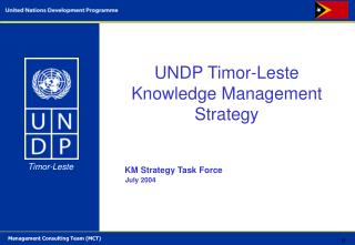 UNDP  Timor-Leste Knowledge Management Strategy