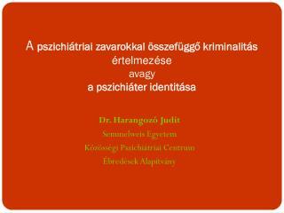 A  pszichiátriai zavarokkal összefüggő kriminalitás értelmezése avagy a pszichiáter identitása